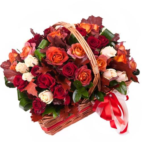 Купить на заказ Заказать Корзина с цветами 10 с доставкой по Степногорску с доставкой в Степногорске