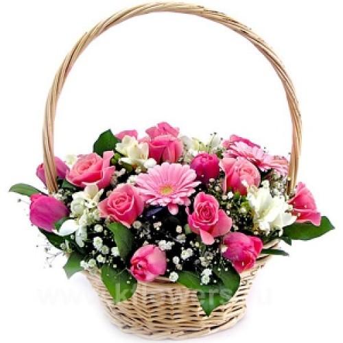 Купить на заказ Заказать Корзина с цветами 6 с доставкой по Степногорску с доставкой в Степногорске