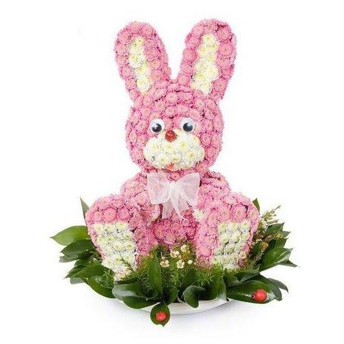 Купить на заказ Заказать Розовый зайчик с доставкой по Степногорску с доставкой в Степногорске