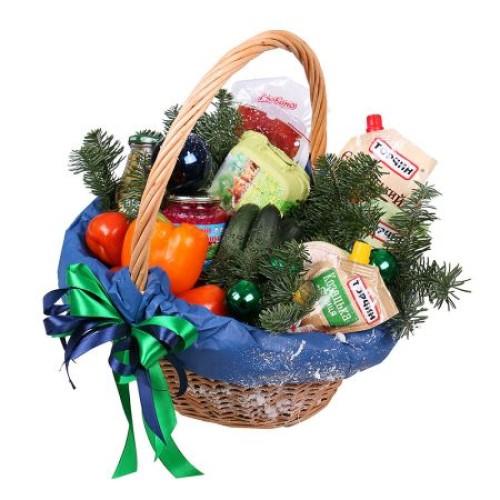 Купить на заказ Заказать Новогодняя корзина «Продуктовая» с доставкой по Степногорску с доставкой в Степногорске