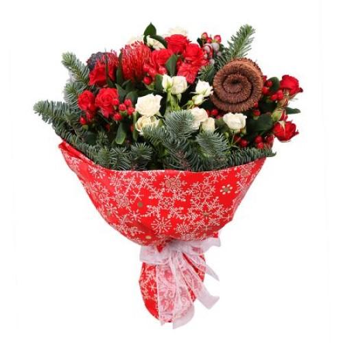 Купить на заказ Заказать Рождественский букет с доставкой по Степногорску с доставкой в Степногорске