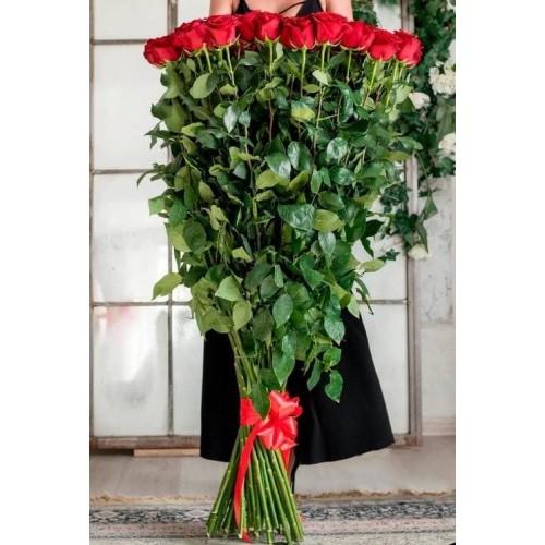 Купить на заказ Заказать 15 полтораметровых роз с доставкой по Степногорску с доставкой в Степногорске