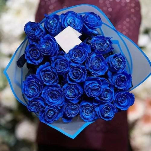 Купить на заказ Заказать 25 синих роз с доставкой по Степногорску с доставкой в Степногорске