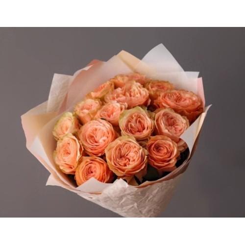 Купить на заказ Заказать 15 пионовидных роз с доставкой по Степногорску с доставкой в Степногорске