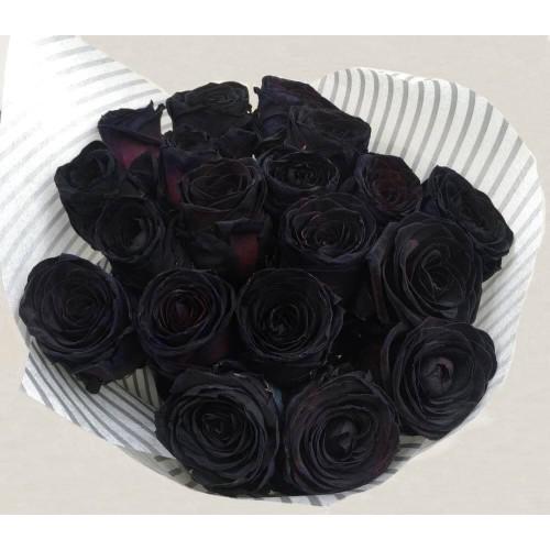 Купить на заказ Заказать 15 черных роз с доставкой по Степногорску с доставкой в Степногорске