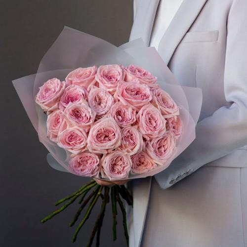 Купить на заказ Заказать 21 пионовидные розы с доставкой по Степногорску с доставкой в Степногорске