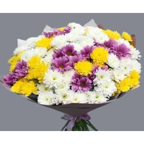 Купить на заказ Заказать 25 хризантем с доставкой по Степногорску с доставкой в Степногорске