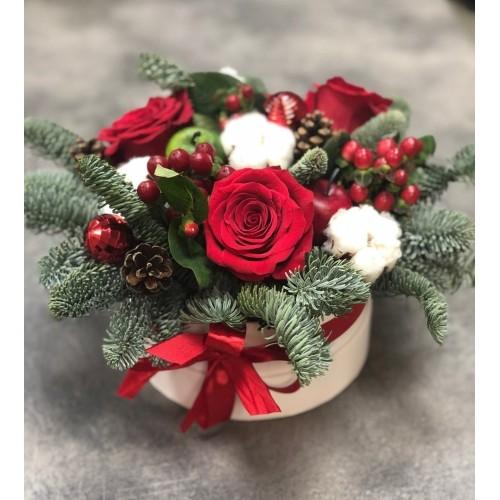 Купить на заказ Заказать Букет «Веселый Санта» с доставкой по Степногорску с доставкой в Степногорске