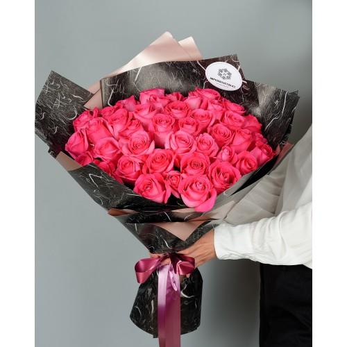 Купить на заказ Заказать Букет из 51 розовых роз с доставкой по Степногорску с доставкой в Степногорске