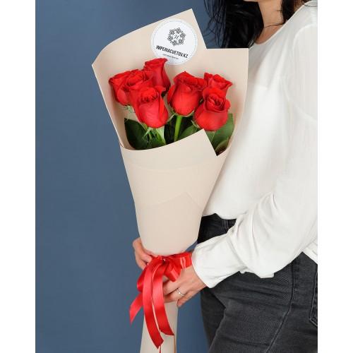 Купить на заказ Заказать Букет из 7 роз с доставкой по Степногорску с доставкой в Степногорске
