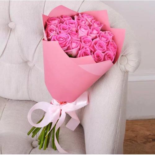Купить на заказ Заказать Букет из 21 розовой розы с доставкой по Степногорску с доставкой в Степногорске