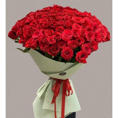 Купить на заказ Заказать 101 метровая роза с доставкой по Степногорску с доставкой в Степногорске
