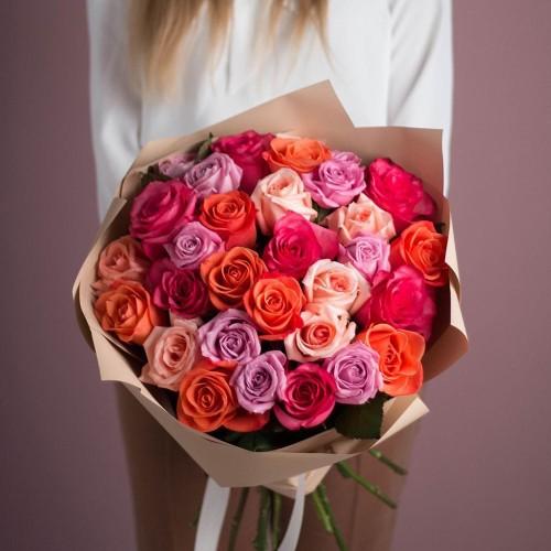 Купить на заказ Заказать Букет из 25 роз (микс) с доставкой по Степногорску с доставкой в Степногорске