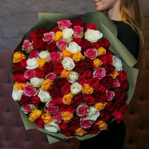 Купить на заказ Заказать Букет из 101 розы (микс) с доставкой по Степногорску с доставкой в Степногорске